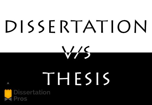 Thesis vs dissertation difference
